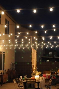love hanging lights for the summer :)