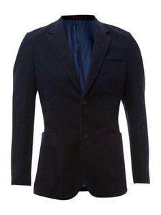 Navy or brown moleskin jacket, House of Fraser