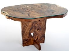 """Natural Furniture - Oval Dining Table with Glass - Base Design #1 - Item #DT00412 - 48"""", 55"""", 60"""", 66"""" & 72"""" Round or Oval Available"""
