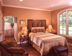 tuscany themed bedroom | The Tuscan – Post and Beam Home