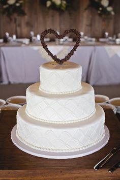 Rustic Heart Cake Topper