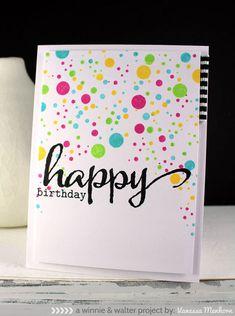 birthday, big bang, confetti card, winnie & walter, winnie and walter