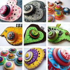 Felt button pins