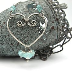 Sterling+Heart+Pendant+Silver+Chain+Necklace++by+OzmayDesigns,+$99.00