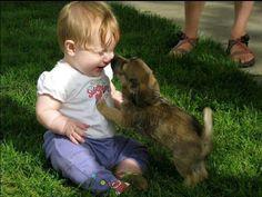 cute! beauti children, anim friend, beauti friendship, puppies, children pic, puppi kiss, babi, dog, kisses