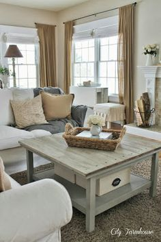 From Overwhelmed to Organized: Day 4: Coffee Table {31 Days of Easy Decluttering}