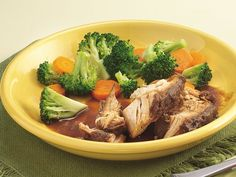Slow Cooker Turkey Breast with Cranberry-Onion Gravy
