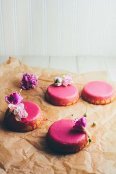 Hummingbird High: Mini Lemon Sour Cream Pound Cakes with Beet Glaze