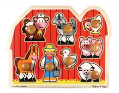 Jumbo Knob Puzzles: Large Farm at theBIGzoo.com, a family-owned store. Check our sales