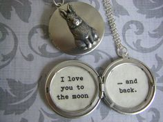 Nutbrown Hare Rabbit Locket Guess How Much I by BellaHopeLockets, $31.50