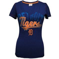 Detroit Tigers baby jersey v-neck by 5th & Ocean. $24.99