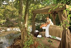 The Spa at L'Auberge de Sedona~ I had the Lavender Dreams Ultimate Experience.  If you love lavender you'll love this treatment!