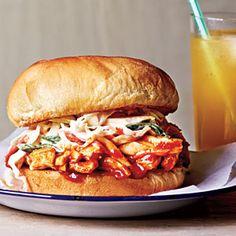 Barbecue Chicken Sandwiches | MyRecipes.com #myplate #protein #grain