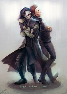 Loki and Tom ~ I <3 this.