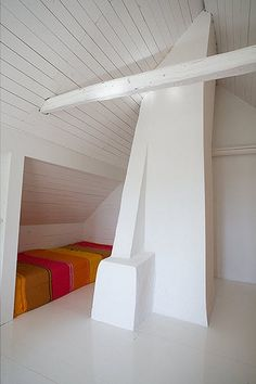 stripey bed nook