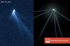Hubble discovers six tailed comet