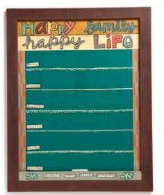 Things With Wings: This Thing Called Family, Happy Family, Happy Life, weekly chalkboard