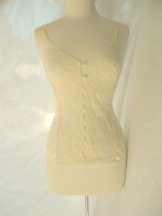 $9.  Vintage sexy sheer lace camisole, sz M