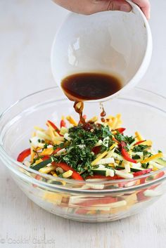 Tricolor Thai Salad Recipe with Zucchini  Yellow Squash |     #recipe