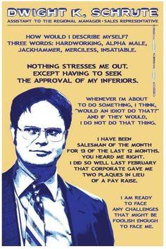 Dwight K. Schrute :)