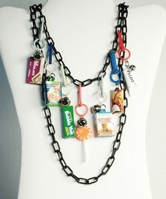 "I LOVED THESE! I had a ton of them!The plastic chain charm necklaces...aka the ""junk"" necklace"