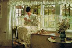 Francis Davis Millet 'The Window Seat'
