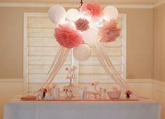 flower poms u can find them at Martha Stewart.com