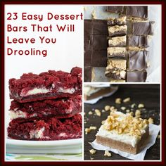 23 Easy Dessert Bars That Will Leave You Drooling. @Allison Schepers, our baking list grows...