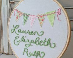Embroidered name