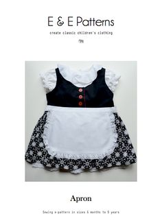 Roots Sewing Series - Free Apron Pattern Sizes 6 months - 9 yr.