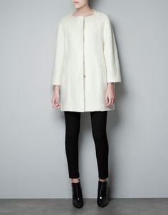 SEAMED COAT - Coats - Woman - ZARA