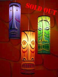 Shag Tiki Lamps
