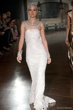 johanna johnson spring 2014 muse bridal collection wedding dress with accessories