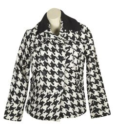 Amazon.com: Plus Size Black Heaven Houndstooth Coat: Clothing