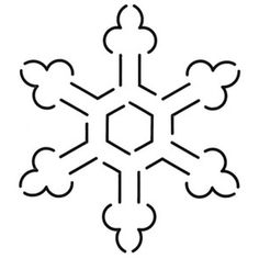 Quilt Stencil Snowflake 3 Pack 5 1/4in x 6in.