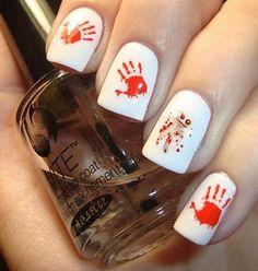 nail art ideas, zombi, nail arts, decal, hand prints, nail design, nail ideas, voodoo dolls, halloween nails