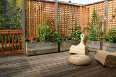 Here's a great way to add some growing space to a small urban backyard that also provides a private...