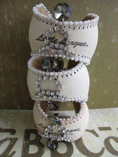 baseball cuffs...thats a cute idea!