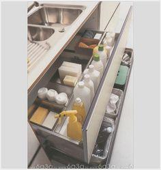 Kitchen sink under cabinet draw organizer