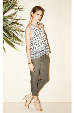 Joie Silk Tank & Linen Pants  available at #Nordstrom