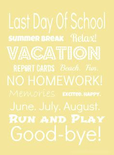 Last Day of School Subway Printable