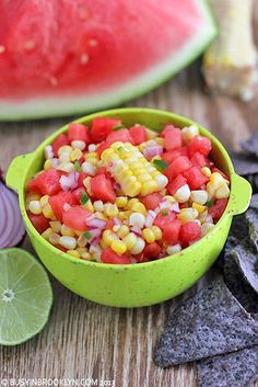 Watermelon and Fresh Corn Salsa | 15 Mouthwatering Ways To Eat Corn On The Cob This Summer