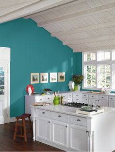 This is the exact color of my bathroom and we absolutely LOVE it! Calypso SW 6950 Sherwin-Williams