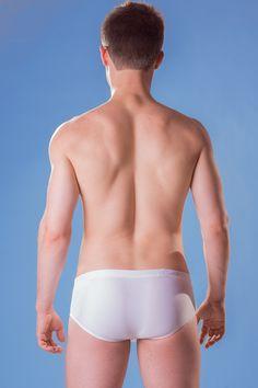 Dietz - Sunga Brasil White - Back - www.johnnybeachbuns.com