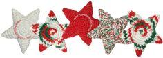 Tutorial: estrellas de Navidad tejidas a crochet con la técnica de amigurumi!   (Christmas stars)