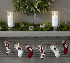 Knitted Stocking Advent Calendar #potterybarn