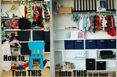 Go from messy to organized in an hour