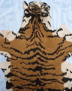 Knitted Tiger Pelt