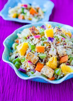 brown rice,tempeh and veggie bowls