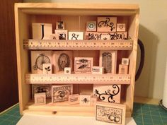 Wine Case Stamp Storage Display